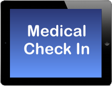 Medical Check In App on Apple iPad